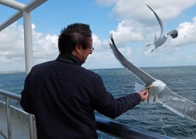Rob van Leeuwen, op de boot van Texel naar Den Helder